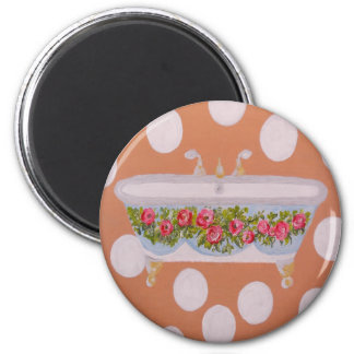 Circles and Suds Bathroom Art Magnet
