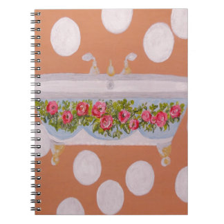 Circles and Suds Bathroom Art Notebook