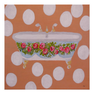 Circles and Suds Bathroom Art Poster
