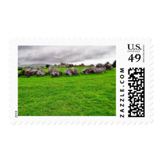 Circles At Carrowmore Postage Stamps