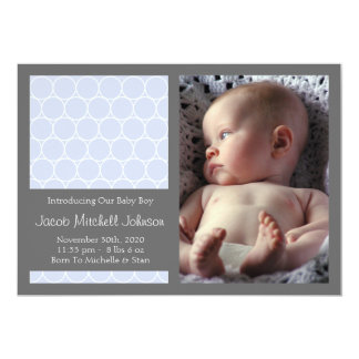 Circles Background New Baby Announcements (Violet)