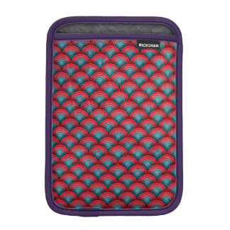 Circles Background  Spiral Surface Red and Blue iPad Mini Sleeve