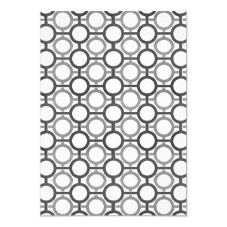 Circles & Bars Trellis Shades of Grey Card