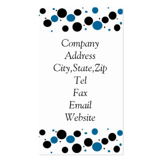 circles black n blue business cards