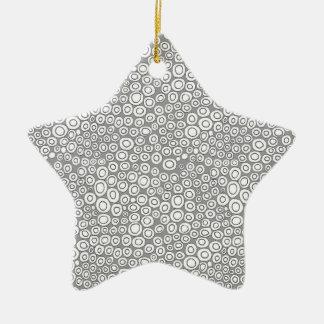 Circles Ceramic Ornament