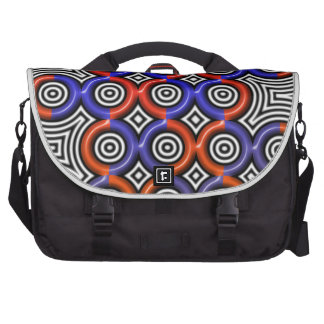 Circles circles everywhere laptop bag