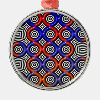 Circles, circles everywhere metal ornament