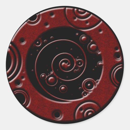 Circles Classic Round Sticker