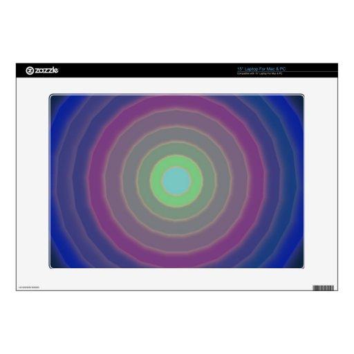 "Circles design for pcs, masc and laptops skin for 15"" laptop"