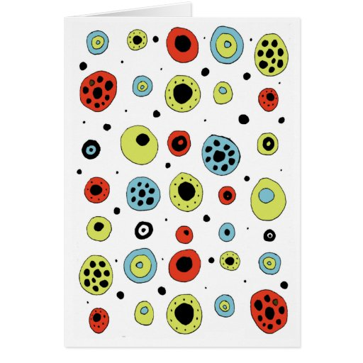 Circles/Doodle 2 Stationery Note Card