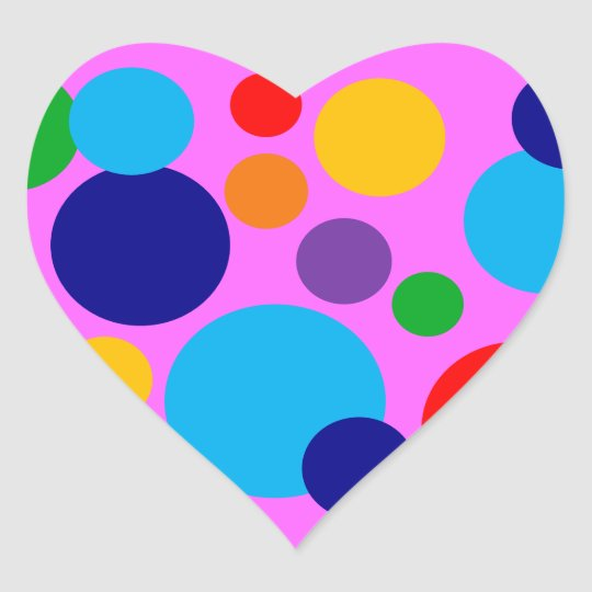 Circles & Dots Heart Sticker