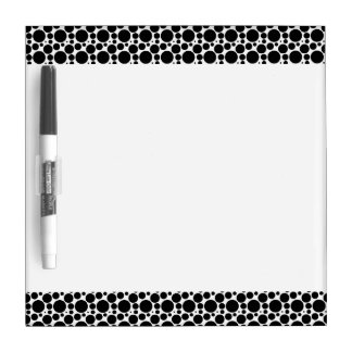 Circles & Dots in 7 Sizes: Repeating Black & White Dry-Erase Board