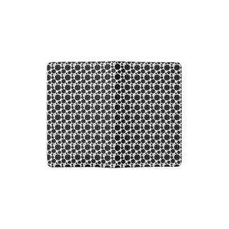 Circles & Dots in 7 Sizes: Repeating Black & White Pocket Moleskine Notebook