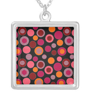 Circles & Dots Silver Plated Necklace