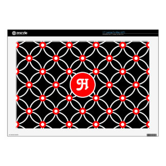 """Circles & Dots-White & Red 17"""" Laptop Decal"""
