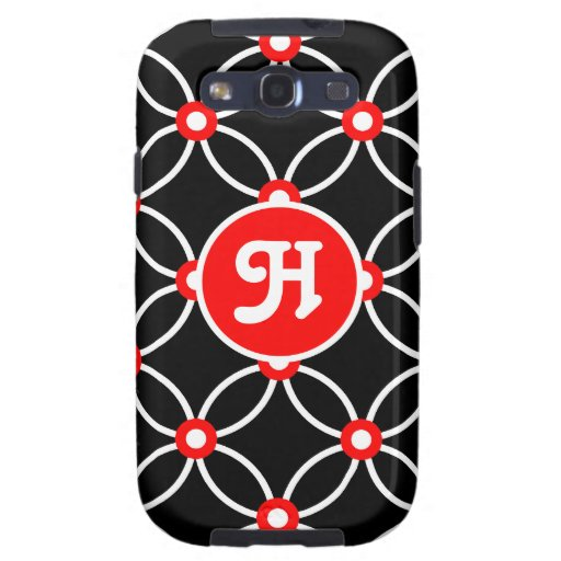 Circles & Dots-White & Red Galaxy S3 Cover