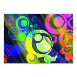 CIRCLES GO GRUNGE STATIONERY NOTE CARD