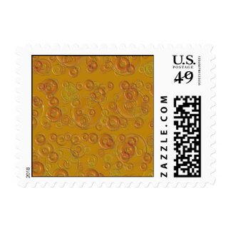 CIRCLES GOLDEN POSTAGE STAMPS