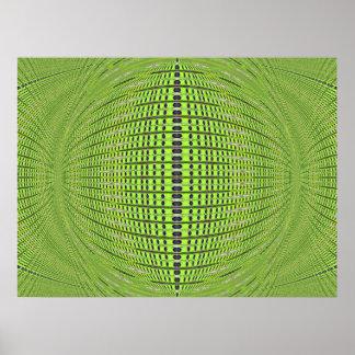 circles green poster