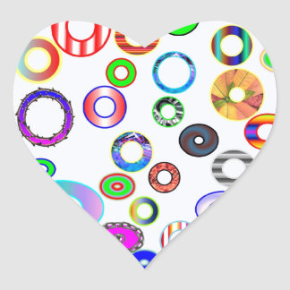 circles heart sticker