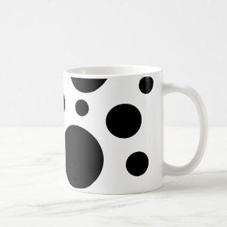 Circles in black on white mug