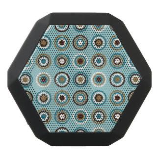 Circles in Rings Ptn Teals Brown Cream Gold Black Bluetooth Speaker