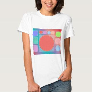 Circles in Squares : Full of Life Shades Pattern T-Shirt