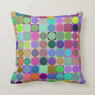 Circles in Squares Retro Throw Pillow