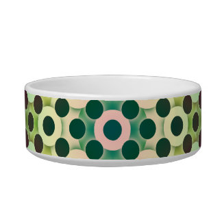 Circles Inverted Alternate Cat Food Bowls