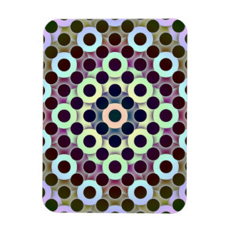Circles Inverted Rectangular Magnet