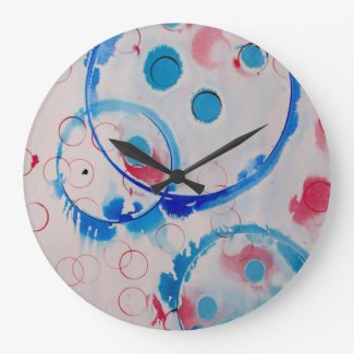 circles large round clock