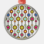 Circles & Line Design Christmas Ornaments