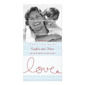 Circles + Love Aqua Save The Date Photo Card