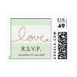Circles + Love Dusk RSVP Wedding Custom Stamps