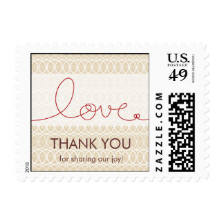 Circles + Love Dusk Thank You /RSVP Custom Stamps