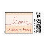 Circles + Love Kiss Invitation Wedding Stamps