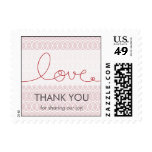 Circles + Love Lilac Thank You /RSVP Custom Stamps
