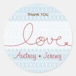 Circles + Love Sky Custom Thank You / Gift Sticker