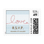 Circles + Love Sky RSVP Wedding Custom Stamps