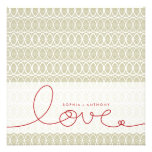 Circles + Love Stone Custom Wedding Invitation Invite