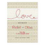 Circles + Love Stone Save The Date Postcard Postcard