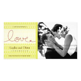 Circles Mod Love Tea Wedding Thank You Photo Card