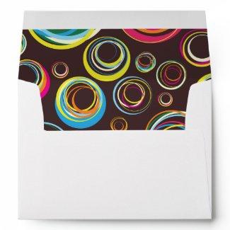 Circles n Circles Wedding Envelope A7 envelope