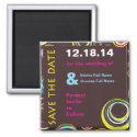 Circles n Circles Wedding Save the Date Magnet magnet