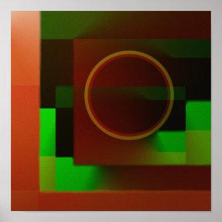 """Circles n Squares"" Poster"