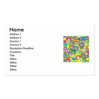 circles, Name, Address 1, Address 2, Contact 1,... Double-Sided Standard Business Cards (Pack Of 100)