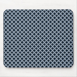 Circles-Navy___Unisex Mouse Pad