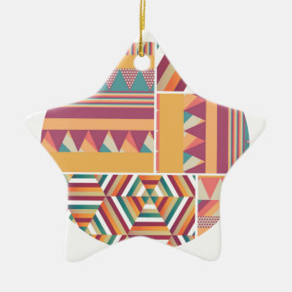 Circles of Color Ceramic Ornament