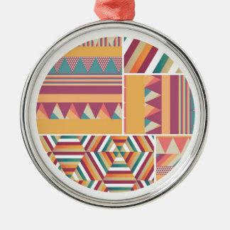 Circles of Color Metal Ornament