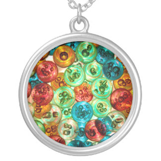 Circles of Color Round Pendant Necklace